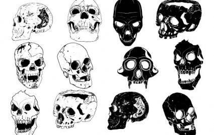 free vector ChopperDesigns Skull Set