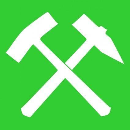 free vector Schlaegel Und Eisen Green clip art