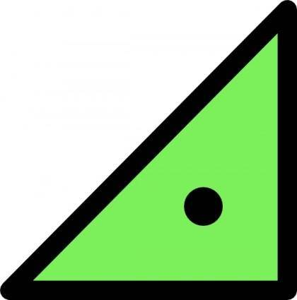 Triangle With Dot clip art