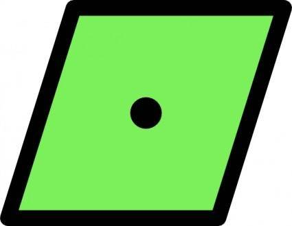 Nchart Ecdis Lateral Simple Canbuoy Green clip art