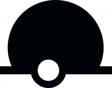 free vector International Sphere Buoy Maritime Symbol clip art