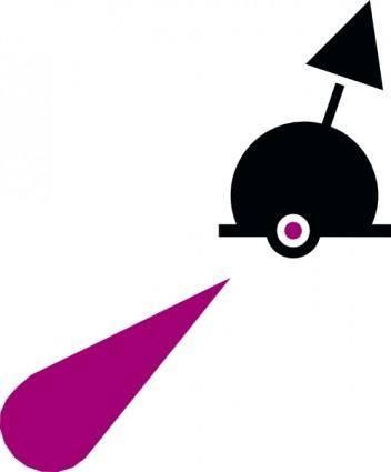 free vector International Lighted Sphere Buoy clip art