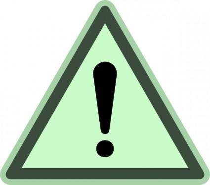 Green Danger clip art