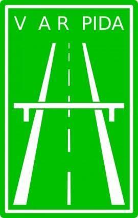free vector Es Expressway Sign clip art