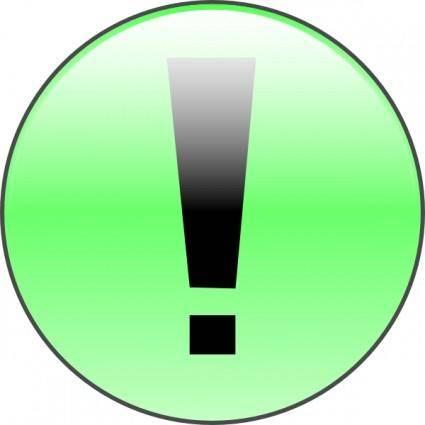 free vector Attention Green clip art
