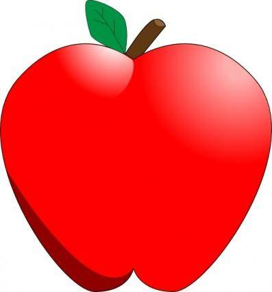 free vector Cartoon Apple clip art