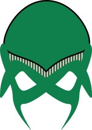 Green Alien Mask clip art