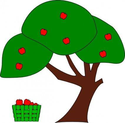 free vector Apple Tree clip art