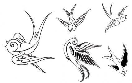 free vector VECTOR BIRDS - SPARROWS