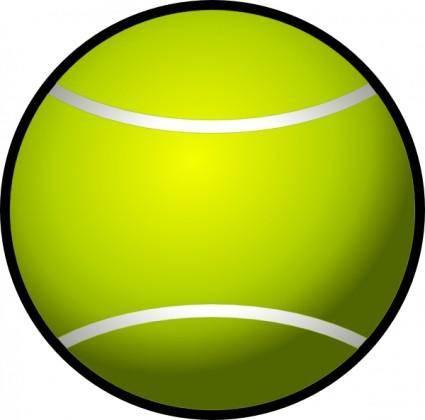free vector Simple Tennis Ball clip art