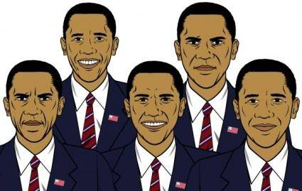 free vector Barack Obama mix