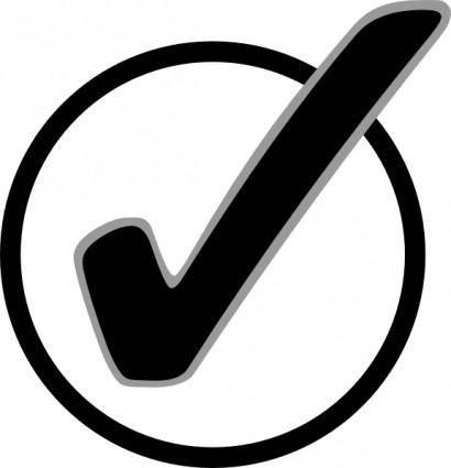 Circle Checkmark clip art