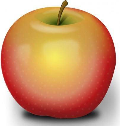Photorealistic Red Apple clip art