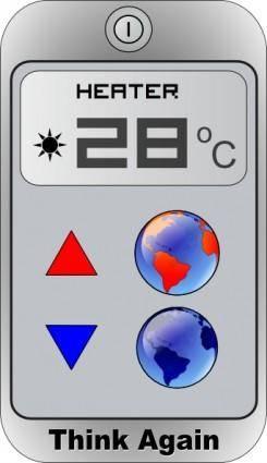 free vector Think Again Heater clip art