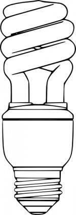 Compact Fluorescent Light Bulb clip art