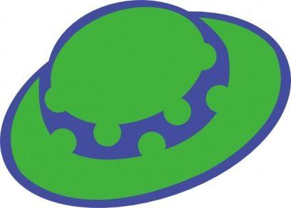 Green Girls Hat clip art