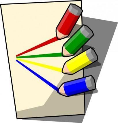 free vector Pencils Set clip art