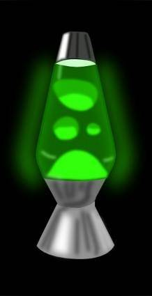 Lava Lamp Glowing Green clip art