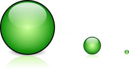 Green Glassbutton With Shadow clip art