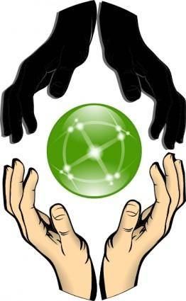 Hands Forming Unity clip art