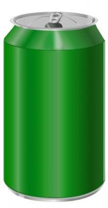 Vectorscape Green Soda Can clip art