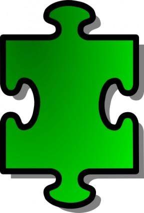 Green Jigsaw Piece clip art