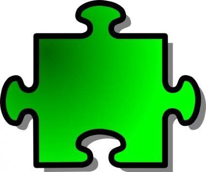 free vector Green Jigsaw Puzzle clip art