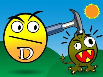free vector Vitamin D Smashes Cancer clip art