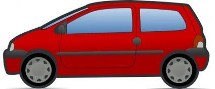Red And Green Renault Twingo clip art