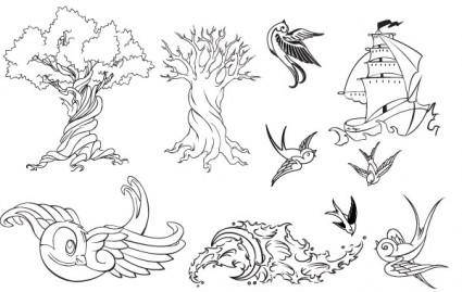 free vector Tattoo Vector Set