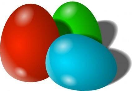 free vector Easter Eggs clip art