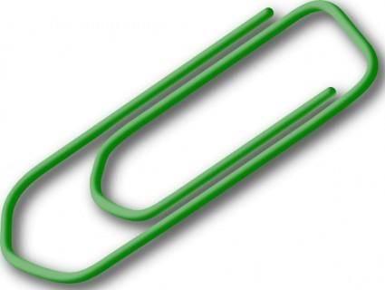 Green Paperclip clip art