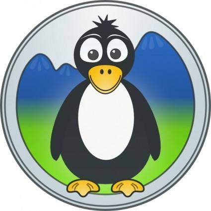 Penguin In The Mountains clip art