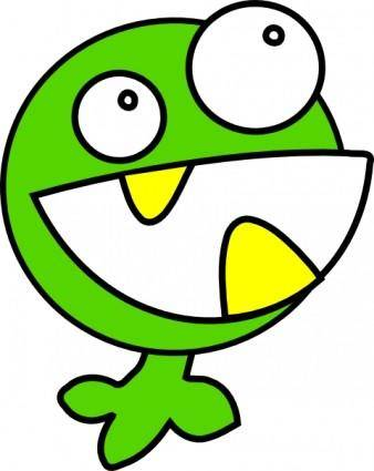 free vector Green Monster clip art