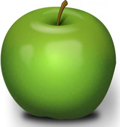 Photorealistic Green Apple clip art
