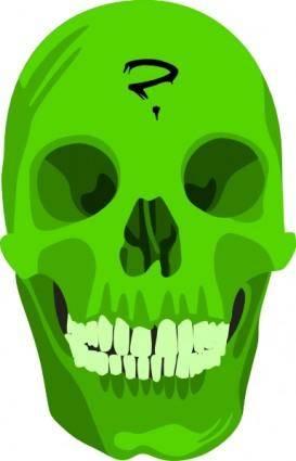 Liakad Green Skull clip art