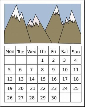 free vector Calendar clip art