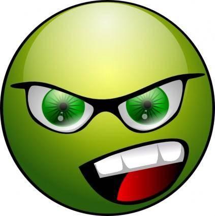 Raphie Green Lanthern Smiley clip art