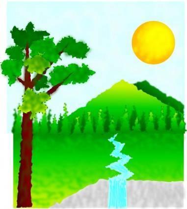 free vector Natural Landscape clip art
