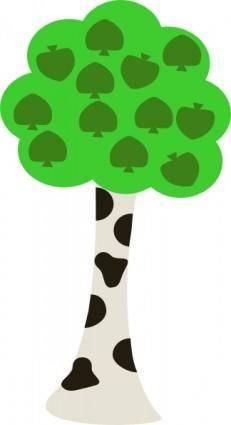 Cartoon Tree clip art 115636