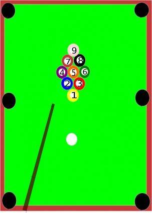 free vector Pool Table clip art
