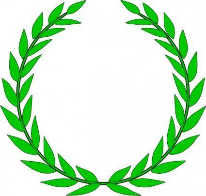 free vector Olive Wreath clip art