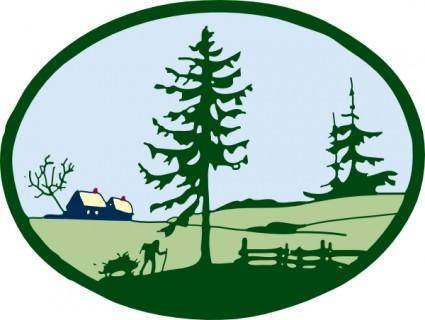 free vector Country Scene clip art