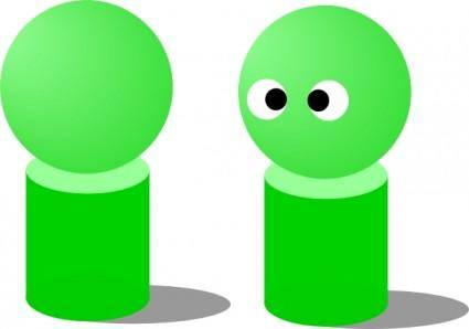 Dolls Green clip art