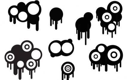 Circles And Drips Set