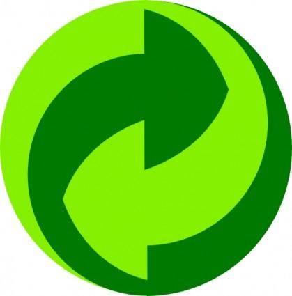 Green Dot Gruener Punkt clip art