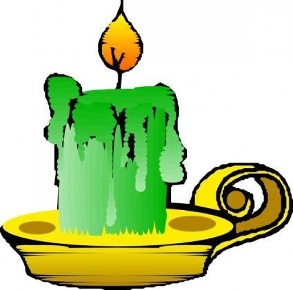 Green Candle clip art