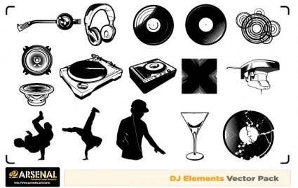 free vector Free Dj & Graffiti vector artwork