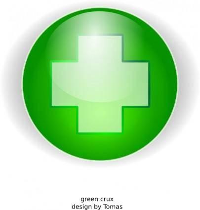 Green Cross clip art