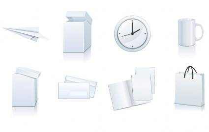 Vector set: white paper ? packaging and stationery elements